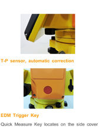 "GTS 340 1 ""/ 2"" / 5 ""600M prismless سریال / 1000M کل ایستگاه برای بررسی و ساخت و ساز"